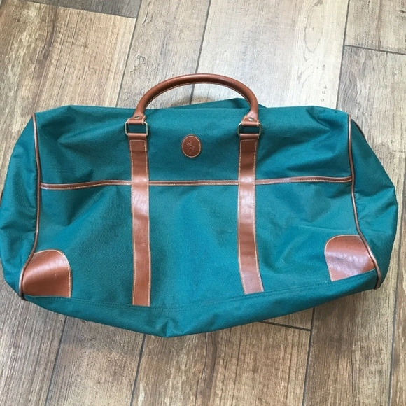 4ab6caad2f8 Polo by Ralph Lauren Bags   Vintage Polo Green Canvas Leather ...